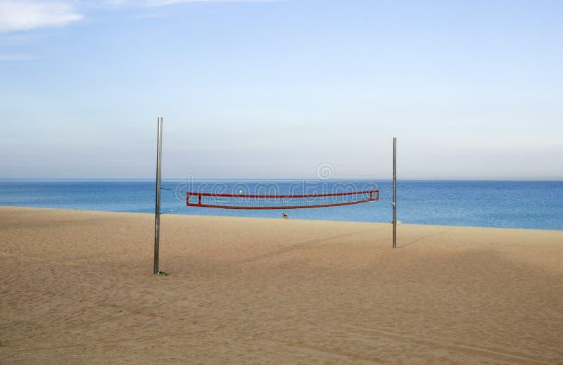 Pusty plażowej siatkówki sąd obraz stock