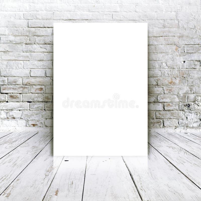 Pusty plakat jako kopii przestrzeni szablon dla twój projekta zdjęcie stock