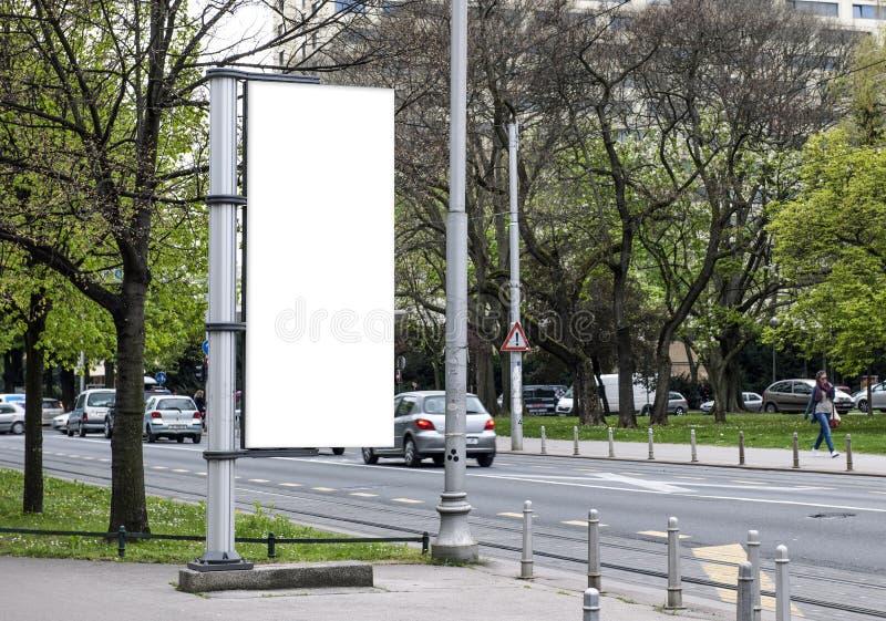 Pusty plakat, miasto ulica w Zagreb obraz royalty free