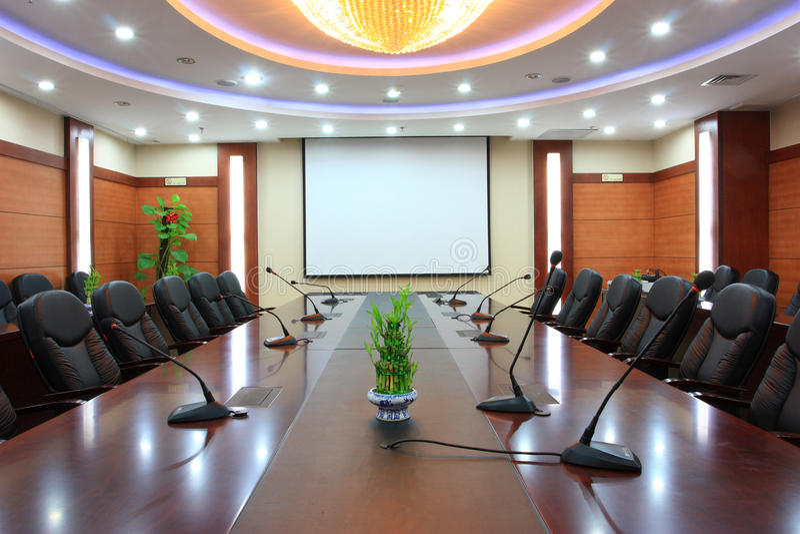pusty pokój konferencyjny obrazy stock