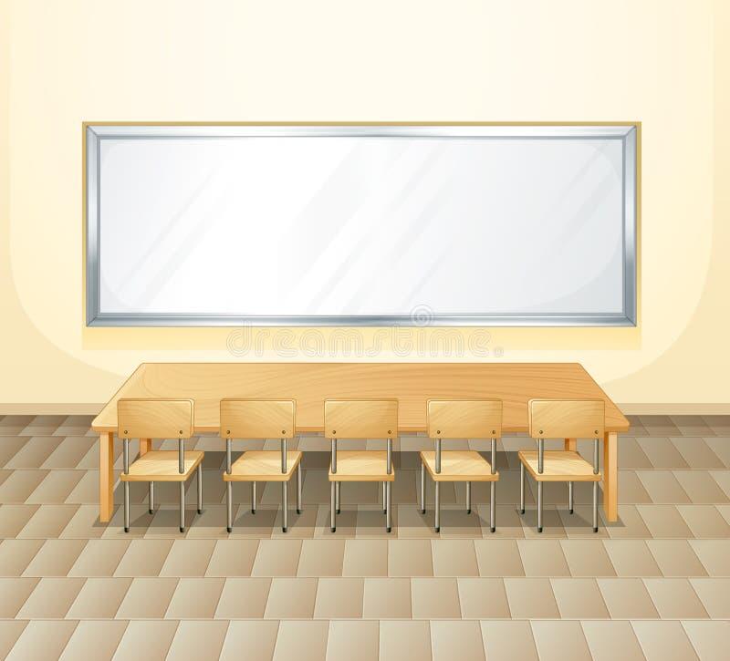 Pusty pokój konferencyjny ilustracja wektor