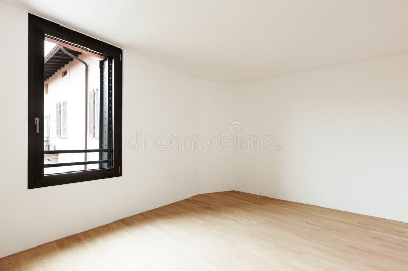 Pusty pokój, parkietowa podłoga obrazy royalty free