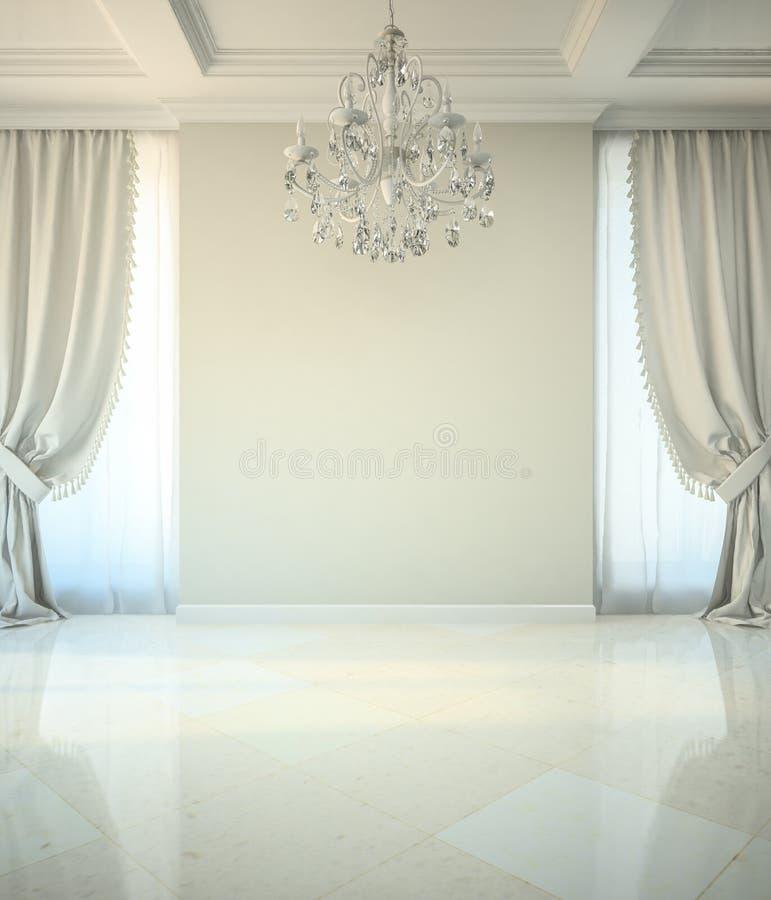 Pusty pokój w klasyka stylu royalty ilustracja