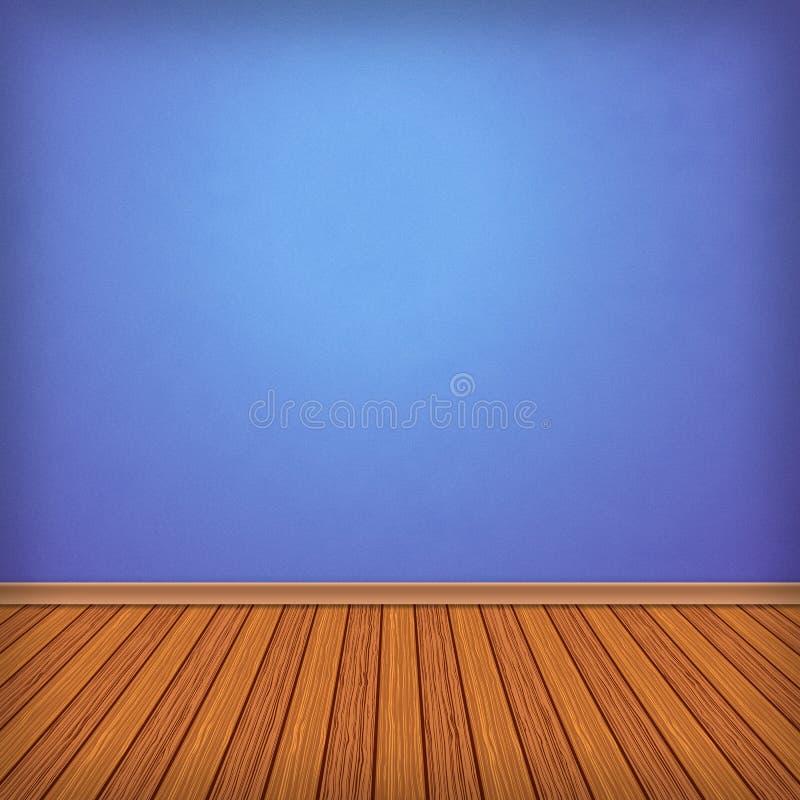 Pusty pokój, wnętrze z tapetą ilustracji