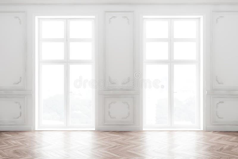 Pusty pokój z oknami ilustracji