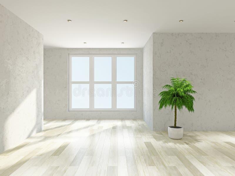 Pusty pokój z okno ilustracja wektor