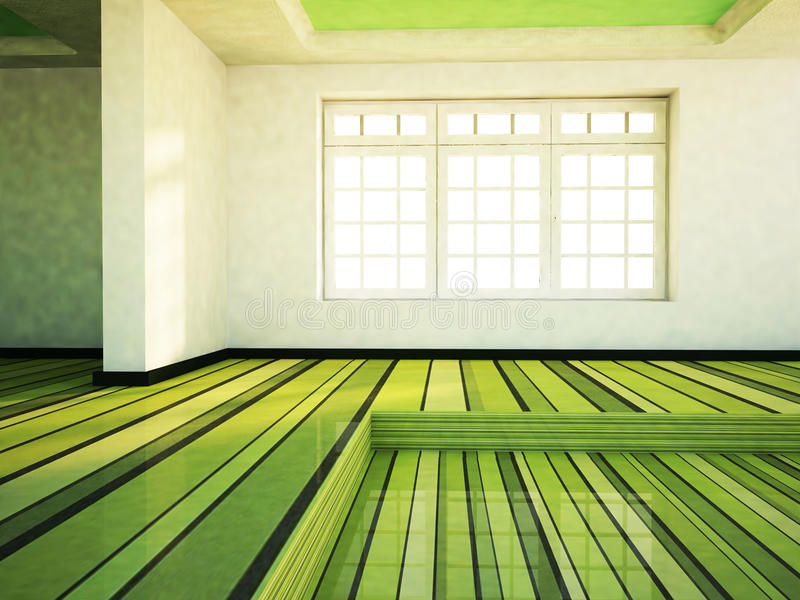 Download Pusty pokój z okno ilustracji. Ilustracja złożonej z nowożytny - 41953621