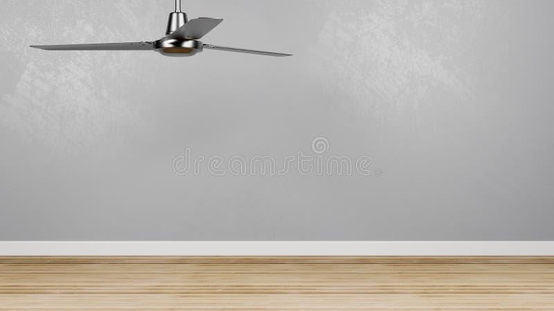Pusty pokój z Podsufitowym fan ilustracji