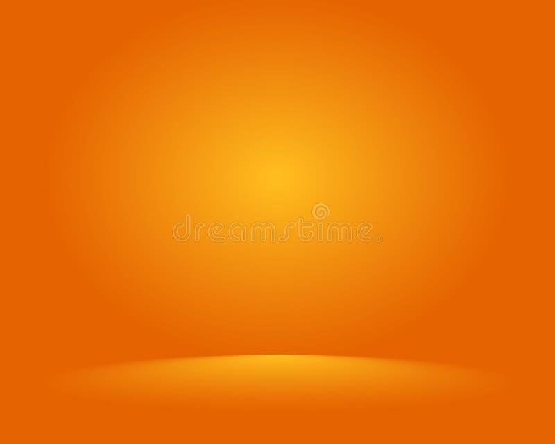 Pusty pomarańczowy pracowniany pokój, używać jako tło dla pokazu twój produkty - wektor ilustracja wektor
