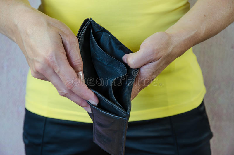 pusty portfel obrazy stock