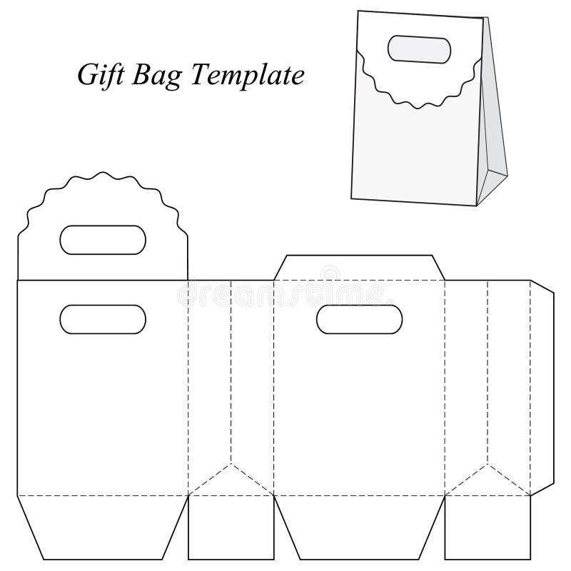 Pusty prezent torby szablon ilustracja wektor