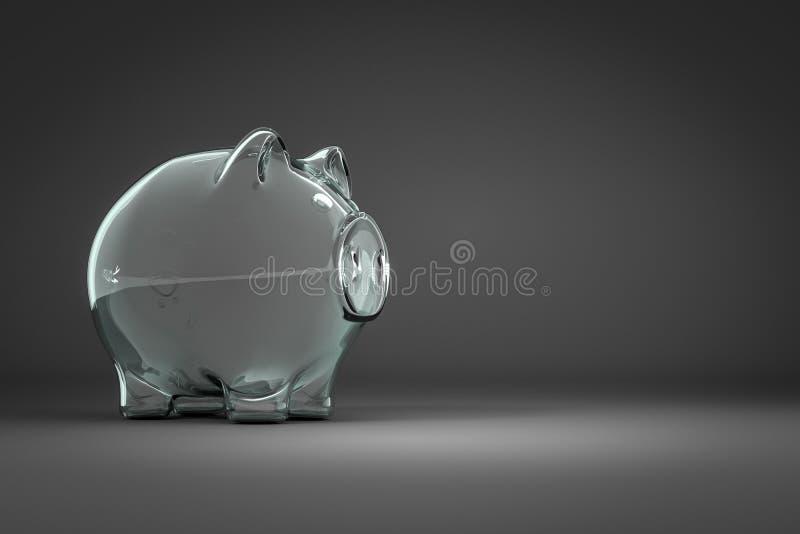 pusty prosiątko bank z przestrzenią dla twój zawartości royalty ilustracja