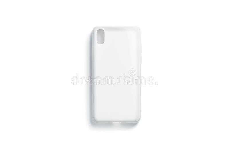 Pusty przejrzysty matt telefon skrzynki mockup, odizolowywający, odgórny widok, ilustracji