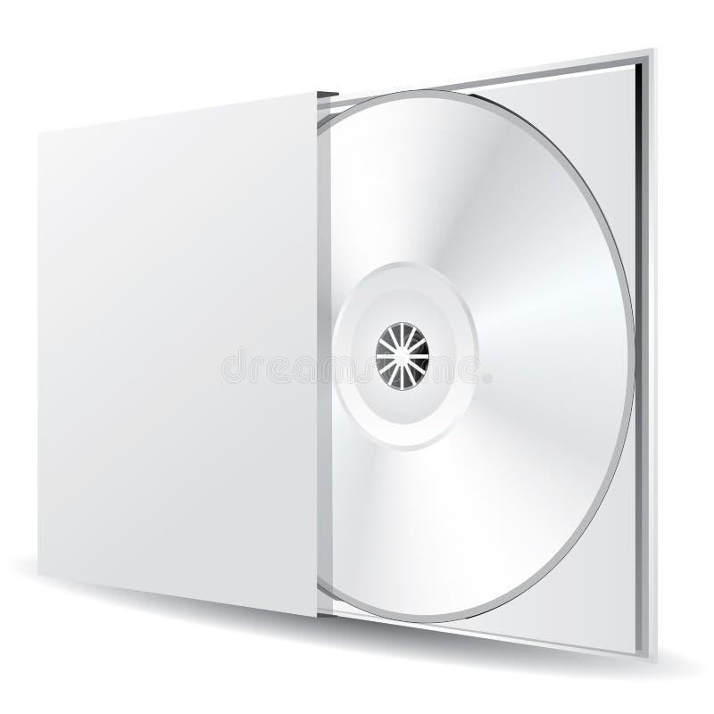 pusty pudełkowaty cd ilustracji