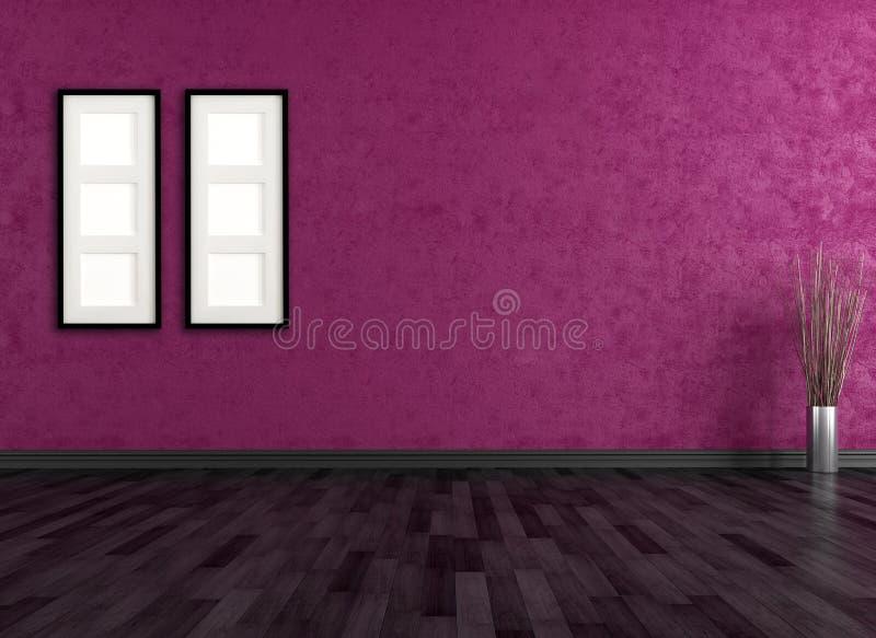 Pusty purpurowy wnętrze royalty ilustracja