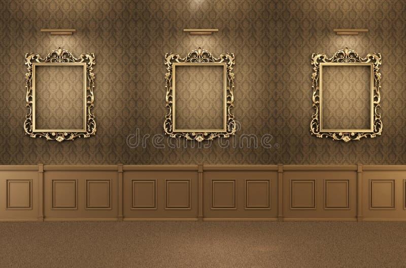 pusty ram galerii wnętrze luksusowy ilustracji