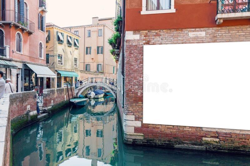 Pusty reklamowy plakat w Wenecja zdjęcia stock