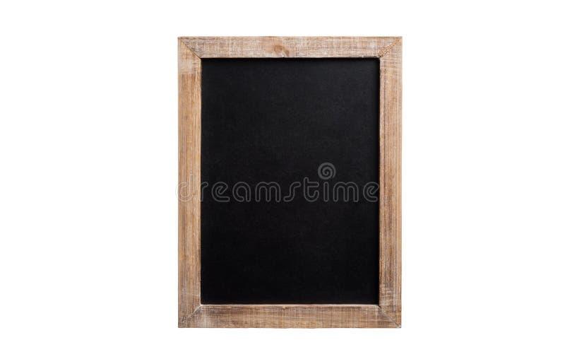 Pusty rocznika chalkboard z drewnianą ramą, odosobnioną na bielu zdjęcia royalty free