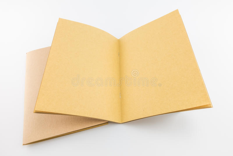 Pusty rocznika katalog, magazyn, książkowy szablon z miękkimi cieniami fotografia stock