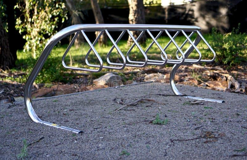 Pusty roweru stojak zdjęcia royalty free