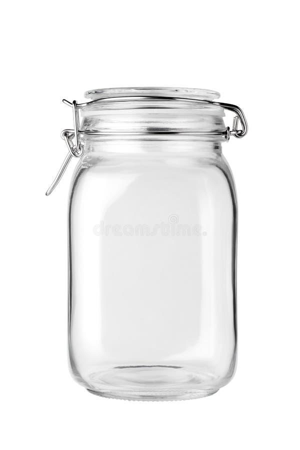 pusty słoik ze szkła fotografia stock