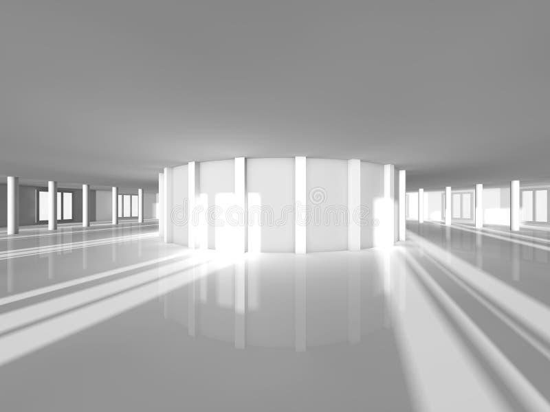 Pusty sala wystawowej 3D rendering obraz stock