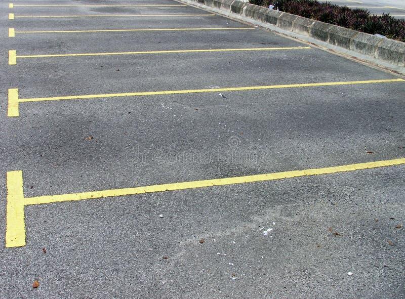 pusty samochód park fotografia stock