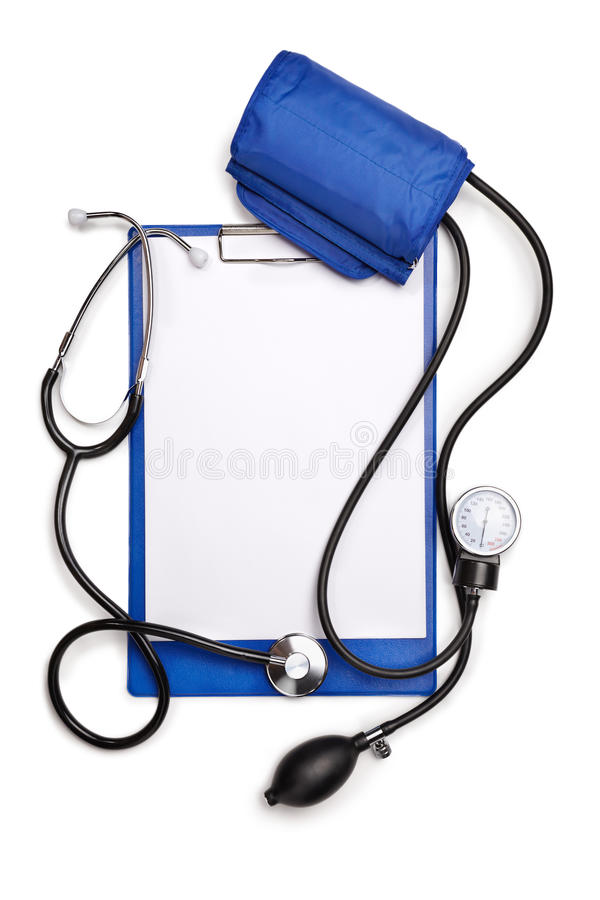 pusty schowka stetoskopu tonometer zdjęcia stock