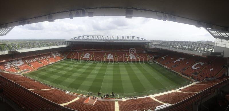 pusty stadion futbolowy panoramy obrazek obraz stock