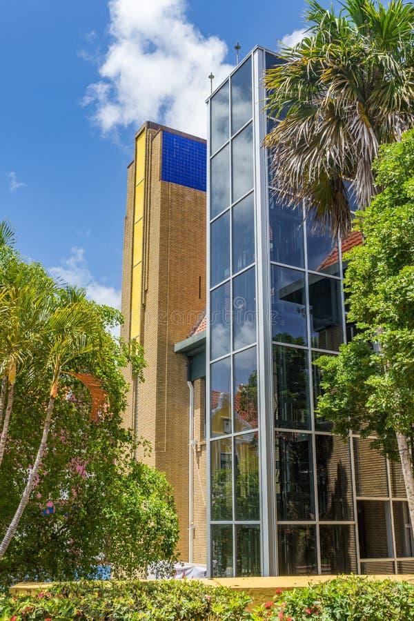 Pusty Stary budynek biurowy - Punda Curacao widoki fotografia royalty free