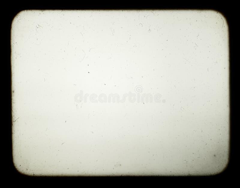 pusty stary projektoru ekranu obruszenia zdjęcie