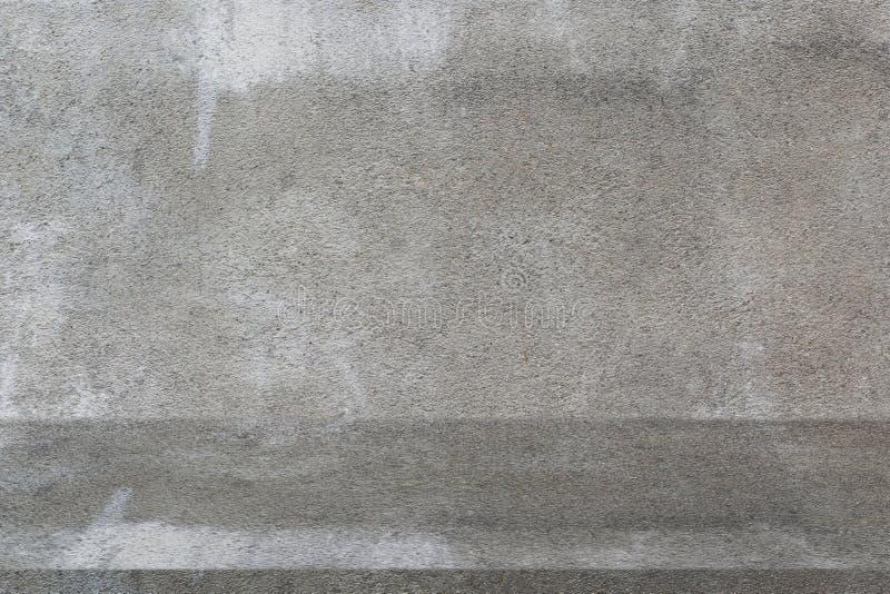 Pusty szary betonowa ściana produktu gabloty wystawowej tło fotografia stock