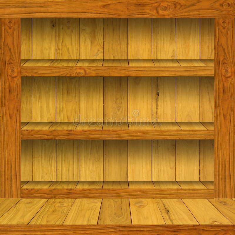 pusty szelfowy drewniany zdjęcia stock