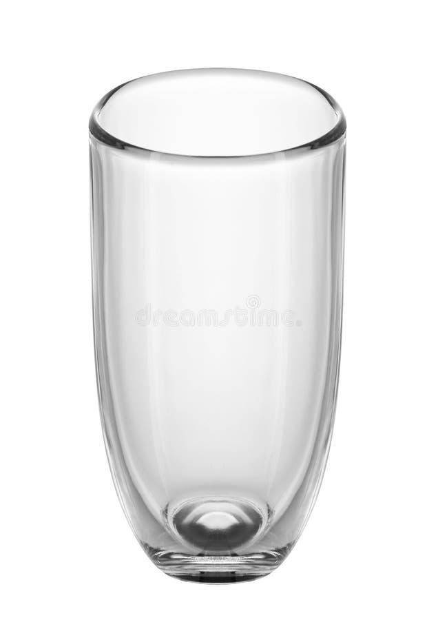 Pusty szkło dla wody, soku lub mleka, obrazy stock