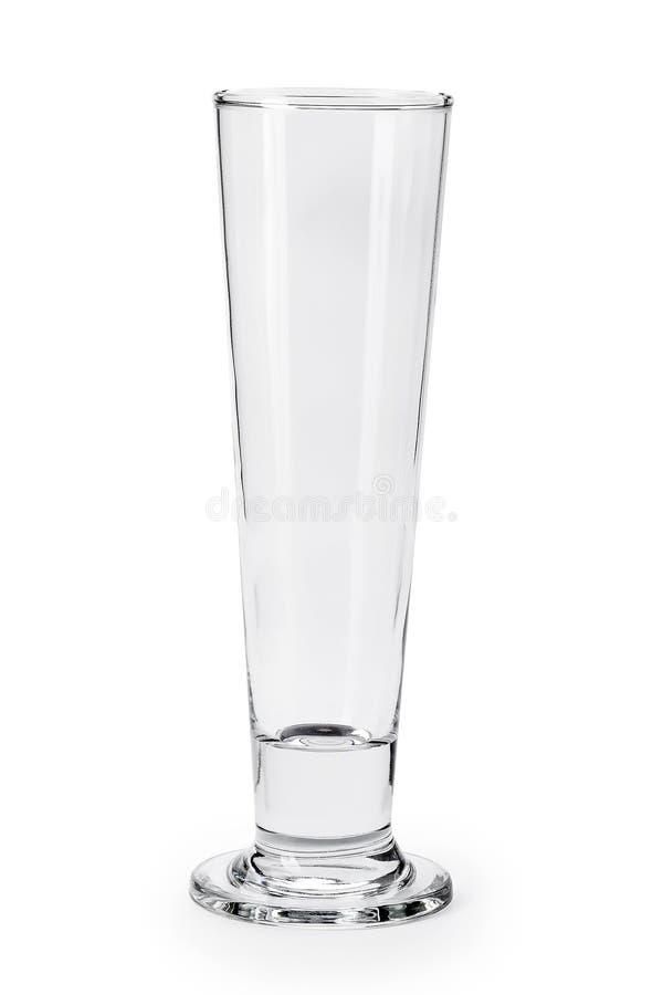 Pusty szkło dla wody, soku lub mleka na białym tle, zdjęcie stock