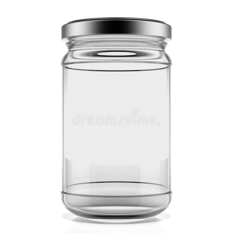 Pusty szklany słój ilustracji