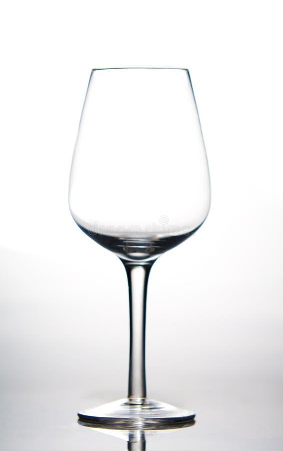 pusty szklany wino obraz royalty free