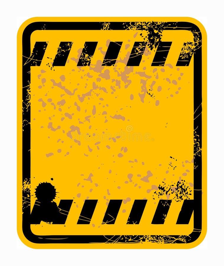 pusty szyldowy ruch drogowy ilustracji