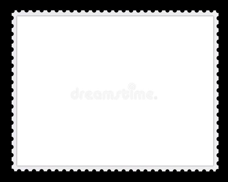 pusty tła znaczek pocztowy ilustracji