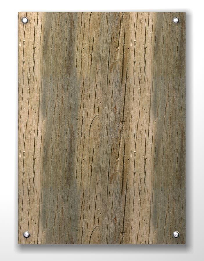 pusty tabletki drewna royalty ilustracja