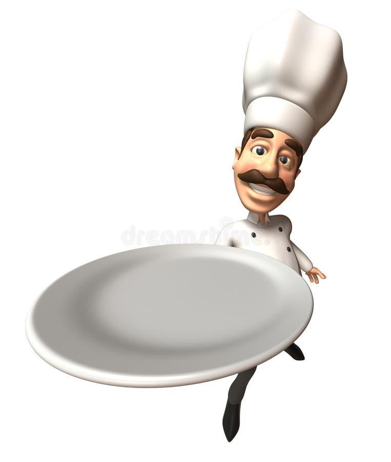 pusty talerz szefa kuchni
