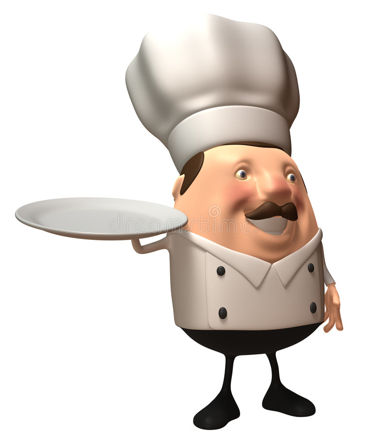 pusty talerz szefa kuchni ilustracja wektor