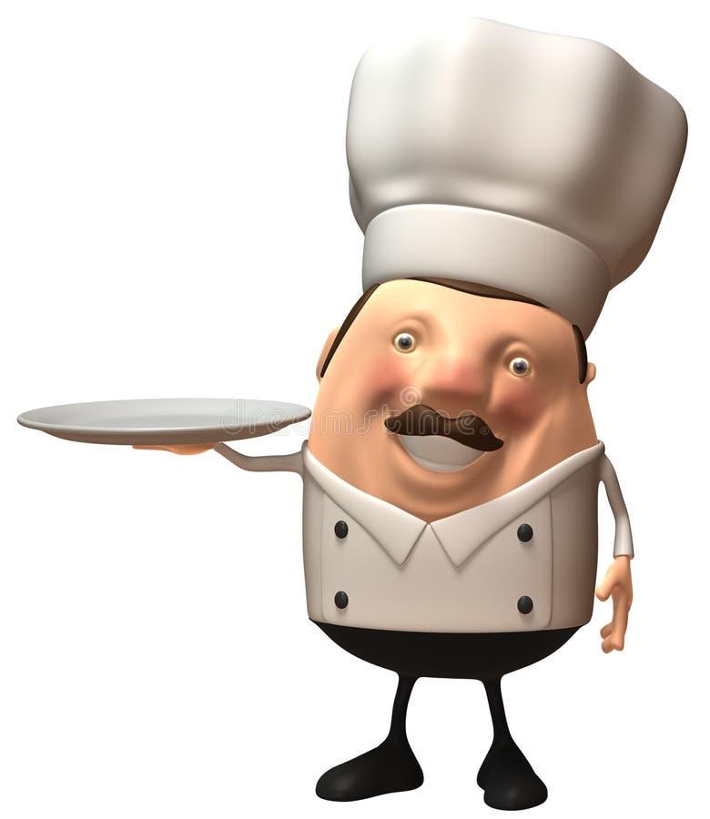 pusty talerz szefa kuchni royalty ilustracja