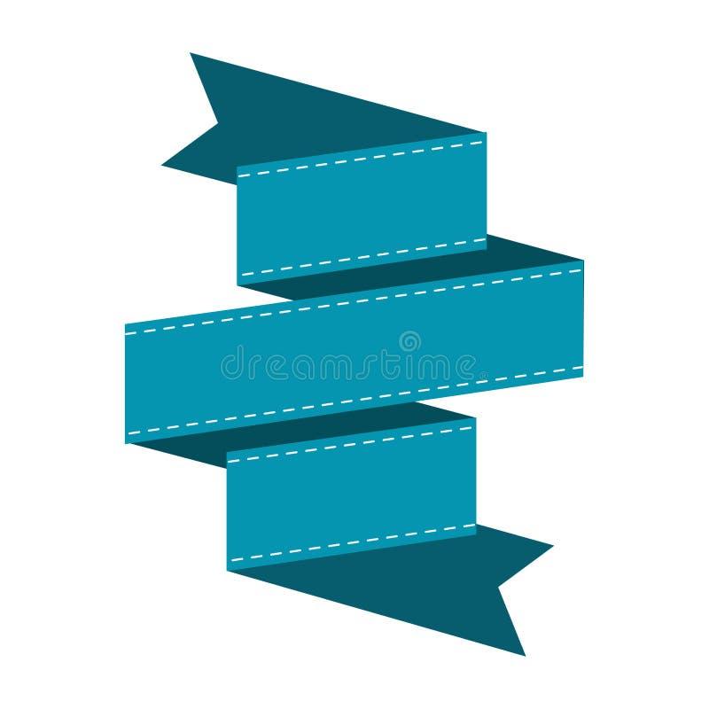 Pusty tasiemkowy sztandar ilustracja wektor