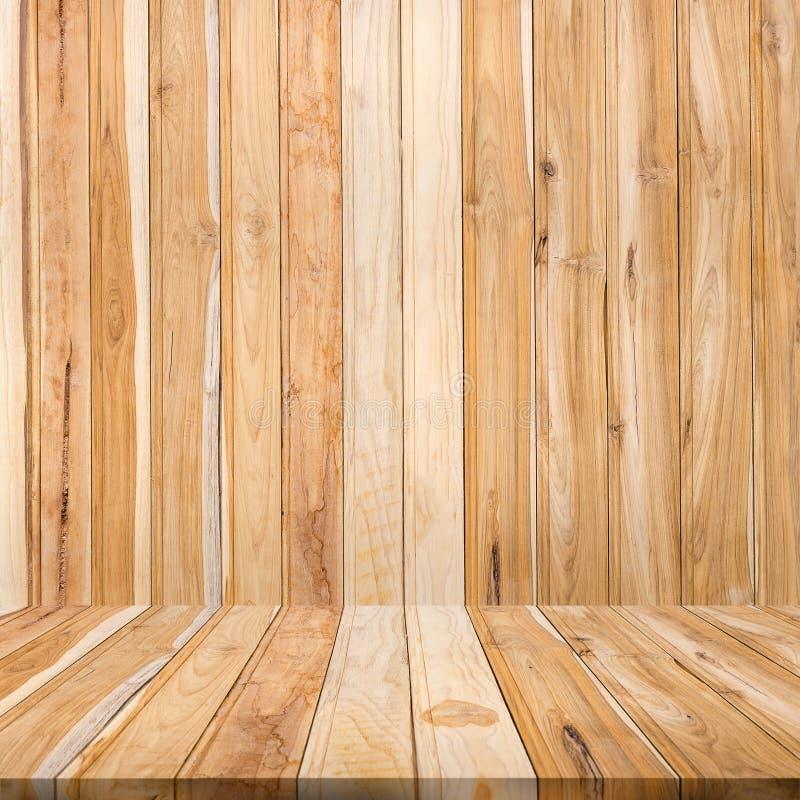 Pusty Tekowy drewniany tło Drewniany stołowej deski tło Natura zdjęcie stock