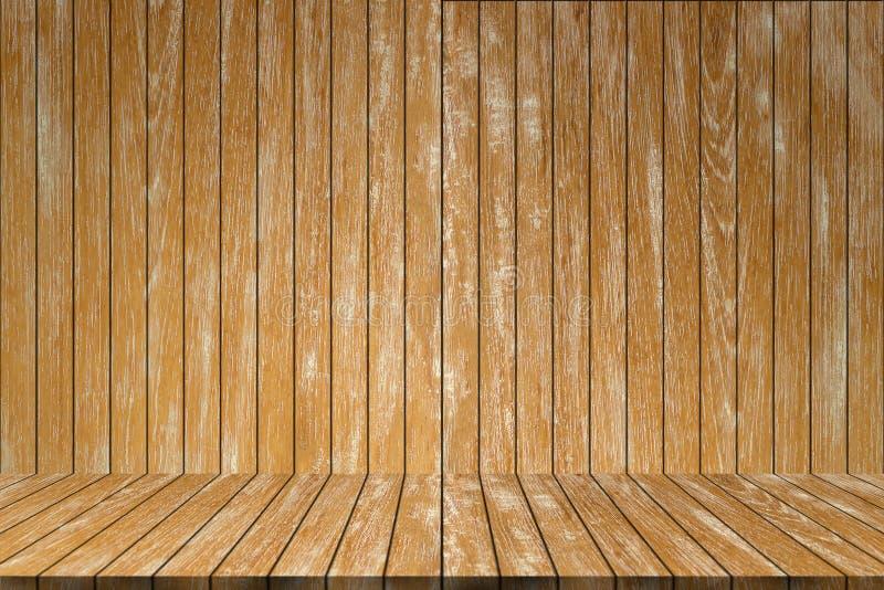 Pusty Tekowy drewniany tło Drewniany stołowej deski tło Natura obrazy stock