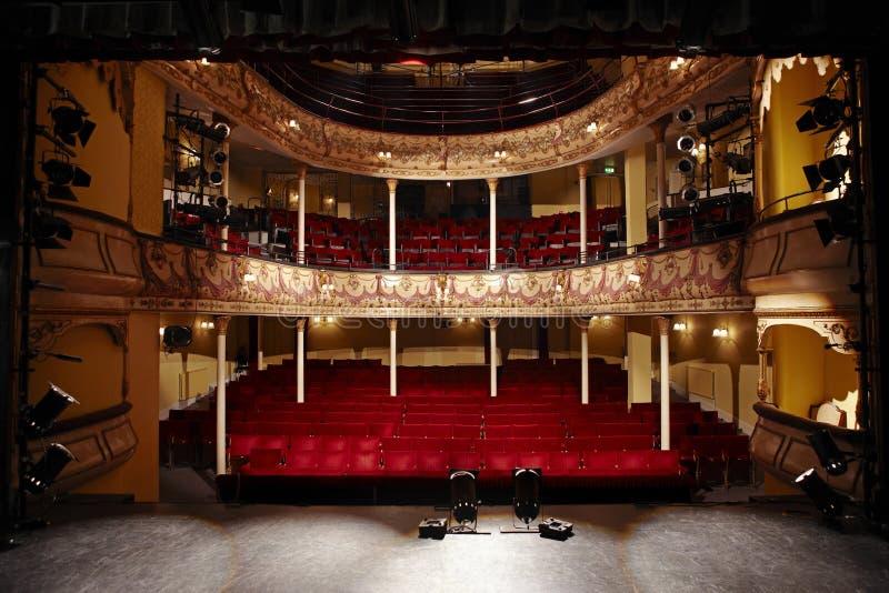 Pusty Theatre zdjęcie stock