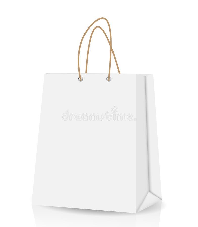 Pusty torba na zakupy dla reklamować i oznakować royalty ilustracja