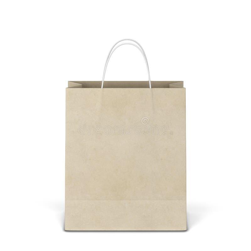 Pusty torba na zakupy mockup fotografia royalty free