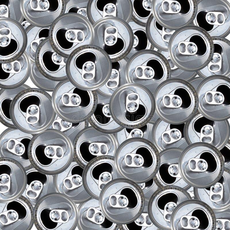 Pusty trzepnięcie wierzchołka Aluminiowych puszek wzór zdjęcia royalty free